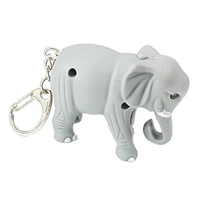 Éléphant Porte-clés avec LED et sonore (son éléphant)
