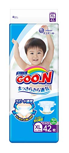 Elleair Goo.N Diaper (with Tape Straps) Size XL (x42)