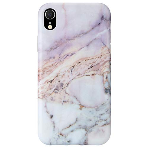 (GOLINK Case for iPhone XR, Matte Finish Marble Series Slim-Fit Ultra-Thin Anti-Scratch Shock Proof Dust Proof Anti-Finger Print TPU Gel Case for iPhone XR 6.1 inch(Line Marble III))