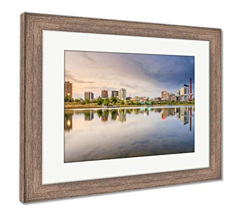 (Ashley Framed Prints Birmingham, Alabama City Skyline, Wall Art Home Decoration, Color, 26x30 (Frame Size), Rustic Barn Wood Frame, AG32675660)