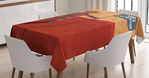 Tablecloth Ambesonne Colonization Cosmonaut Rectangular