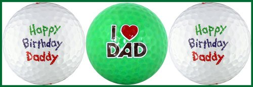 Amazon EnjoyLife Inc Happy Birthday Daddy W Love You Golf Ball Gift Set Standard Balls Sports Outdoors