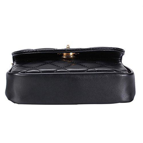 Fanny White Pack Purse Women Bag Black Waist Fanny Chain Belt JAGENIE Travel Rhomboids Pattern YqFwq1a