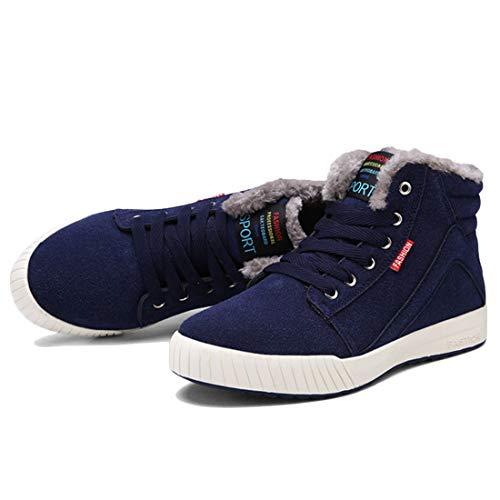 903bf955dd290 De Moda Casual Hombre Suela Estudiante Antideslizante Azul Zapatos Deporte  Para Invierno Engrosamiento Punta Corte Caliente Aiweijia Redonda Otoño  Cómodo ...