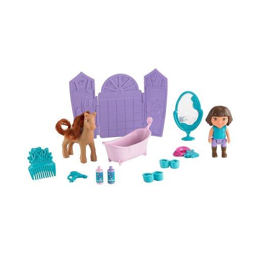 Pony Salon ** Dora the Explorer Play Set ** Dora & Horse Figures + Extras