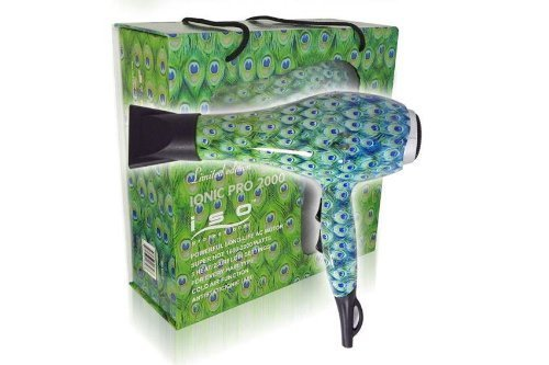 Price comparison product image Iso Professional Hair Dryer Inoic Pro 2000 Limited Edition (PEACOCK)