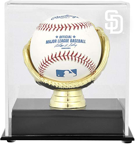 - San Diego Padres Gold Glove Single Baseball Logo Display Case