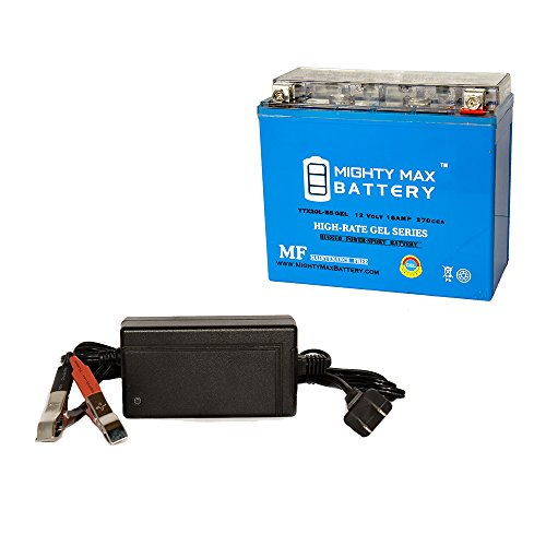 YTX20L-BS Replaces Kawasaki JT1200-A-B, C, STX-R 02-07 + 12V 4A Chrgr - Mighty Max Battery brand product by Mighty Max Battery