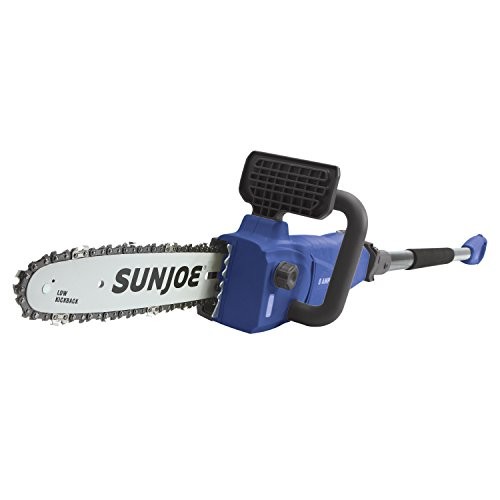 Blue Chainsaw - Sun Joe SWJ807E-SJB Electric Pole Chainsaw, Dark Blue