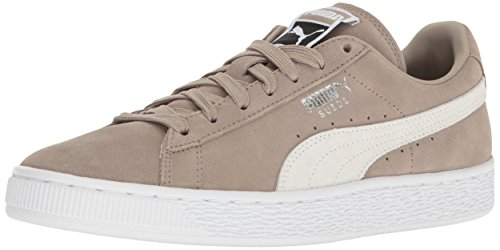 Puma Suede Classic+, Unisex Adults' Low-Top, Vintage Khaki/Puma White, 7.5 M US (Suede Sneaker Beige Shoes)