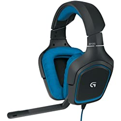 Logitech G430 7.1 DTS Headphone: X and Dolby Surround Sound Gaming Headset for PC, Playstation 4 – On-Cable Controls – Sports-Performance Ear Pads – Rotating Ear Cups – Light Weight Design