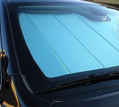 Folding Ultimate Windshield Sunshade for Ram Promaster Full-Size Van 2014 2015 2016 2017 2018 2019 Custom Fit Sun Shade
