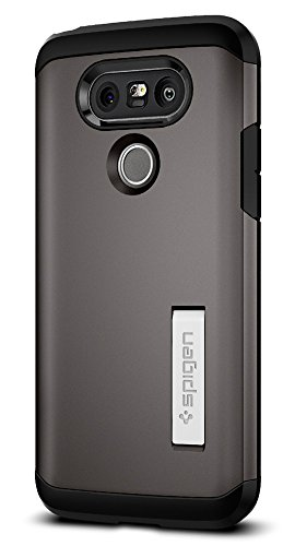 Spigen Tough Armor LG G5 Case with Reinforced Kickstand and Heavy Duty Protection and Air Cushion Technology for LG G5 (2016) – Gunmetal For Sale