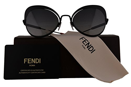 Fendi Authentic Sunglasses FF0247/S Black w/Smoke Grey Gradient Lens 80790 FF 0247/S F0247/S FF0247S F0247S (54mm)