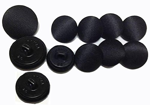Buttons Black Satin - MisterShop Deluxe Tuxedo Buttons Set of 11 Pieces- Made in USA