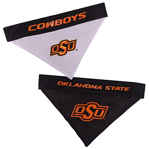 (Pets First Collegiate Pet Accessories, Reversible Bandana, Oklahoma State Cowboys, Small/Medium )
