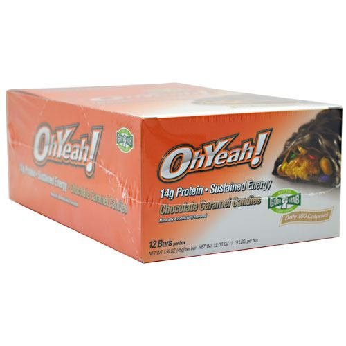 ISS OhYeah! Bar - Chocolate Caramel Candies - 12 Bars Box - 1.59 oz (45 g) bar [19.08 oz (1.19 lb)] box
