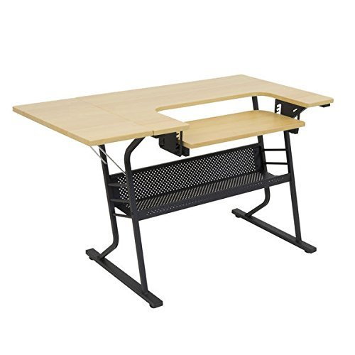 Studio Designs Eclipse Sewing and Craft Table, Black/Maple (Black/Maple) by Studio Designs