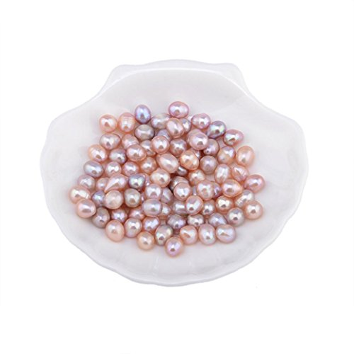 Hot Sale Gifts!Elevin(TM)2017 New 20Pcs 7-8mm Natural Freshwater Real Oval Pearl Loose Beads Birthday Gifts (Purple-30PC)
