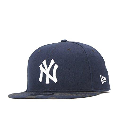 (ニューエラ) NEW ERA キャップ スナップバック 9FIFTY MLB ニューヨークヤンキース ミディアムネイビー/タイガーストライプカモ ネイビー カモフラ 迷彩柄 FREE (サイズ調整可能)