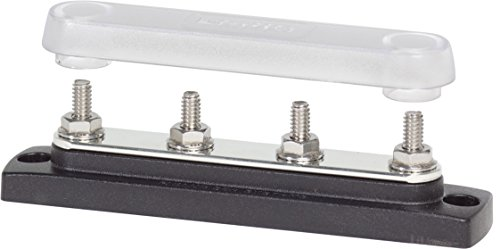 Blue Sea Systems Common 150A BusBar with Four Terminal of 20 1/4-Inch Studs with Cover ()