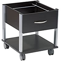 Office Star X-Text Rolling File Cabinet with Espresso Laminate Finish and Silver Finish Frame