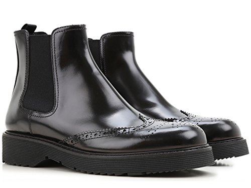 Prada Women's Black Calf Leather Ankle Boots - Booties Shoes - Size: 41 - Shoes Prada Online