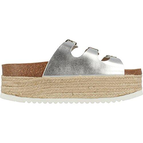 Plata Zapatillas y 205007 para para Marca Sandalias Jeffrey y mujer Color zapatillas Plata Campbell mujer Sandalias Plata Modelo 17anwf