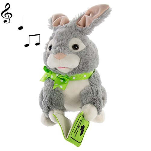 Simply Genius Storytelling Peter Rabbit Plush Toy Talking Moving Animated Stuffed Animal Toy Doll Holiday Christmas Gift Décor & Decorations
