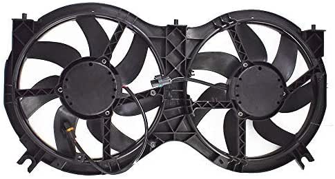 Dual Radiator and Condenser Fan Assembly 2014-2019 Infiniti QX60 2013 Infiniti JX35 3.5L Cooling Direct Compatible with NI3115149 2013-2019 Nissan Pathfinder