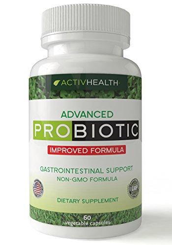 Supplément naturel de probiotiques - aide à soulager les gaz, ballonnements digestifs, Acid Reflux, diarrhée & brûlures d'estomac - renforce le système immunitaire et augmente le niveau d'énergie. Fabriqué en Amérique.