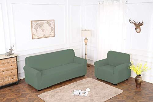 TIANSHU Housse de Canapé 1 Place,1 Pièce Jacquard Housse de Canapé Extensible Protege Sofa Canapé Revêtement de Canapé(1 Place,Cyan)