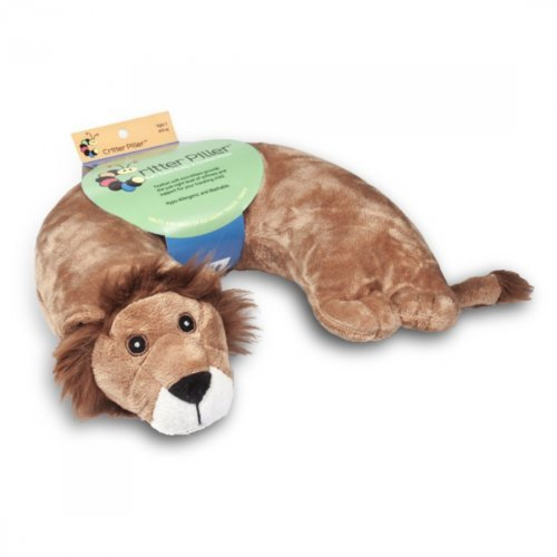 Black Leather Wrapped Snap (Critter Piller Kid's Neck Pillow, Lion)