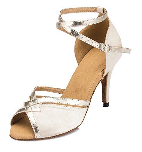 MGM-Joymod - De Salón Mujer Beige Satin /8.5cm Heel