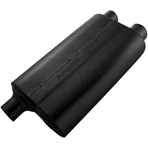 Flowmaster 80 Series Cross - Flowmaster 53083 80 Series Muffler - 3.00 Offset IN / 2.50 Dual OUT - Aggressive Sound