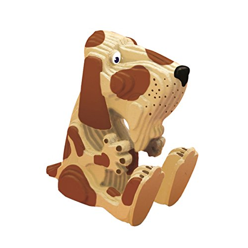 TruTru Animals Dog European 3D Puzzle DIY Craft Kit ; Arts and Crafts, Model Kit (3d Dog Model)
