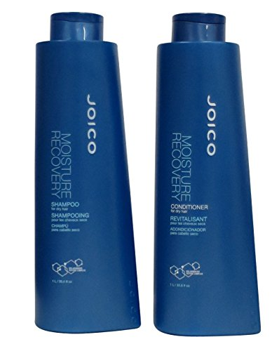 (Joico - Moisture Recovery Shampoo and Conditioner Liter Duo Set(33.8oz))