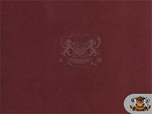 Velvet Suede Cotton Backing Drape Upholstery BELLA Fabric 10 MERLOT / 58