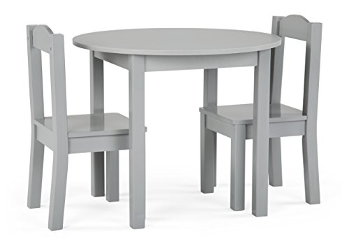 - Tot Tutors TC763 Table and Chair, 3-Piece, Grey