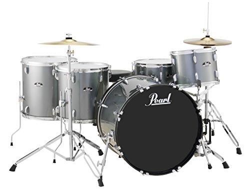 Pearl Roadshow RS525WFC/C706 5-Piece Drum Set, Charcoal Metallic