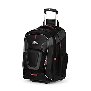 High Sierra AT7 Outdoor Wheeled Backpack, Black