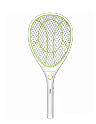Night Cat Electric Mosquito Fly Swatter Bug Zapper Bat Racket, Pests Insects Control Killer Repellent, USB Rechargeable, LED Lighting, Double Layers Mesh Protection