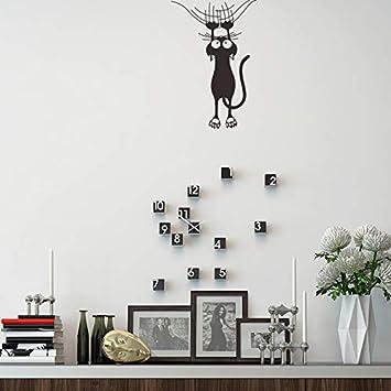 Pegatinas de pared de Dibujos Animados Escalada Muro Gato ...