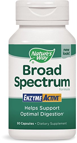 Spectrum Broad Support - Nature's Way Broad Spectrum Enzyme Active Helps Support Optimal Digestion, 90 Capsules, 90 Count