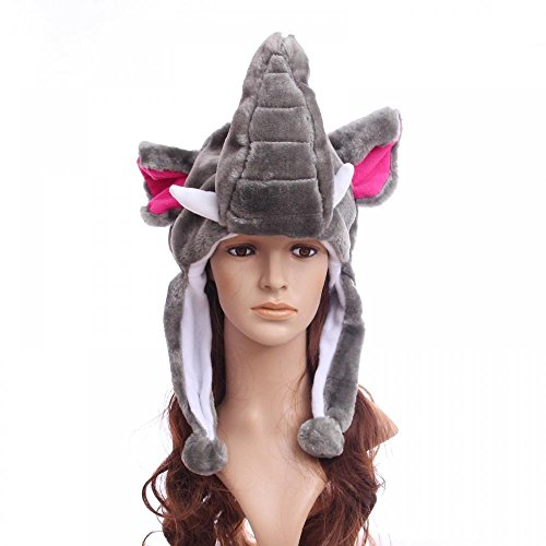 [Elephant_(US Seller)Warm Hat Cap 100% Polyester Plush Fluffy] (Sugar Skull Costume Tumblr)