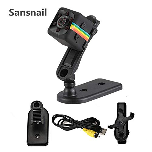 Sansnail 2017 New Original Mini Camera SQ11 HD Camcorder SQ8 SQ9 upgrade Night Vision Mini Camera 1080P Sports Mini DV Voice Video Recorder(Black)