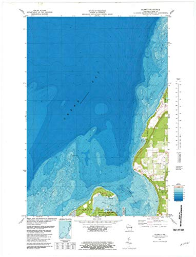 (YellowMaps Idlewild WI topo map, 1:24000 Scale, 7.5 X 7.5 Minute, Historical, 1981, Updated 1981, 29.42 x 22.5 in - Polypropylene)