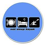 2 x 30cm/300mm Eat Sleep Kayak Vinyl Sticker Decal Laptop Travel Luggage Car iPad Sign Fun #6207