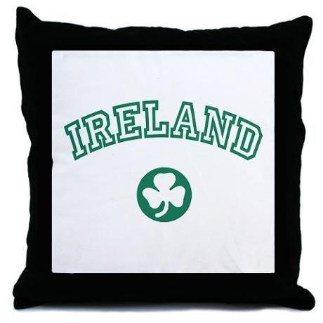 "Ireland Shamrock Patterned Decorative Throw Pillow, 18"""