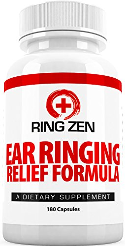 Tinnitus Relief Formula - RingZen (3 Month Supply) - Ringing in the Ears with Citrus Bioflavonoids and More for Maximum Control Tinnitus Relief - 180 Veggie Capsules